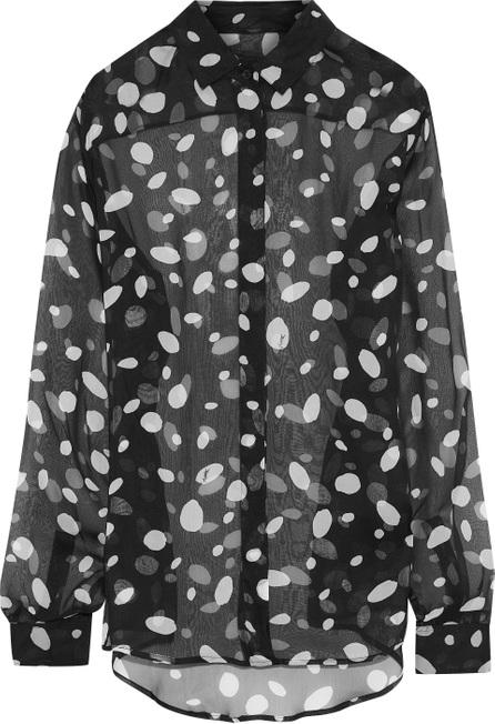 Saint Laurent Printed silk-chiffon shirt