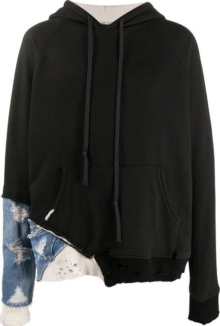 Greg Lauren Fragment fabric detail hoodie
