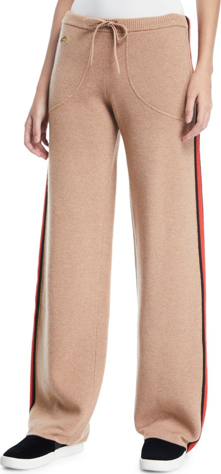 Bella Freud Race Track Side-Stripe Wool/Cashmere Track Pants