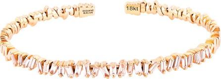 Suzanne Kalan Flexible 18k Gold Diamond Baguette Bangle  Size Medium