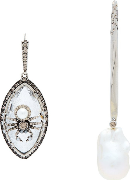 Alexander McQueen Spider and pearl mismatched earrings