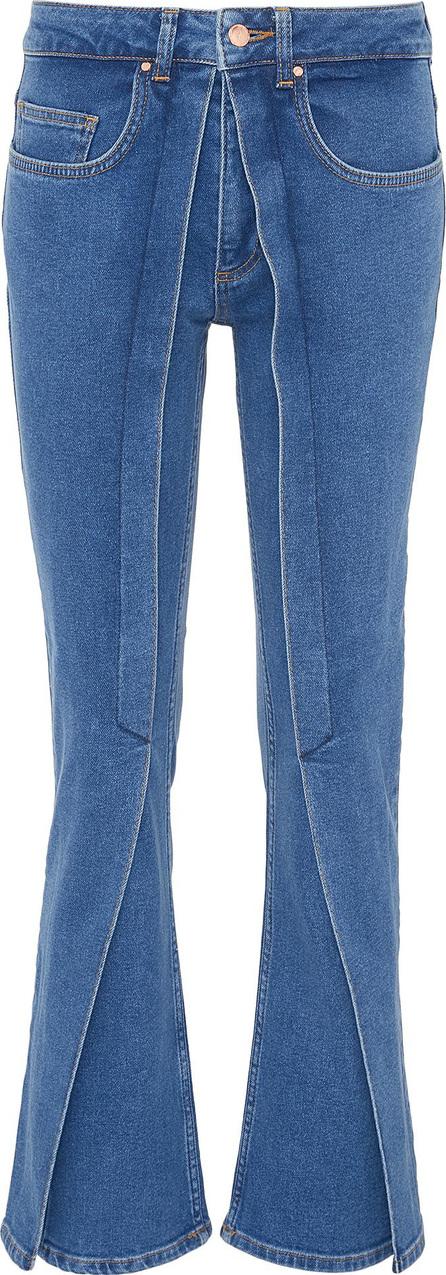 Aalto Pleated flap flared jeans