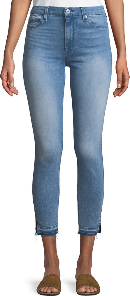 7 For All Mankind High-Waist Ankle-Skinny Jeans w/ Side Hem Splits