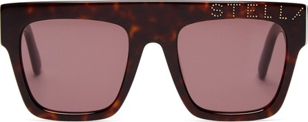 Stella McCartney Flat-top logo-embellished acetate sunglasses