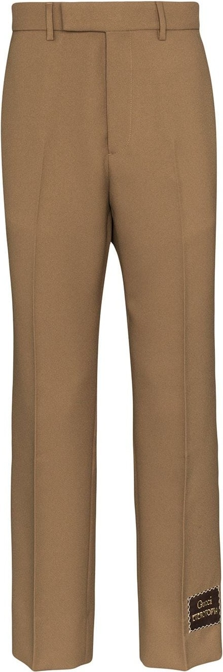Gucci Logo-patch cropped trousers