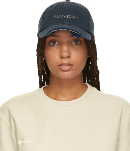 Vetements Navy Reebok Edition 'Sunday' Weekday Cap
