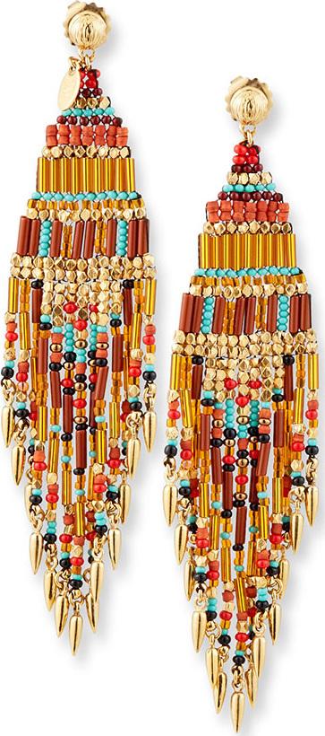GAS Bijoux Aulla Beaded Dangle Earrings