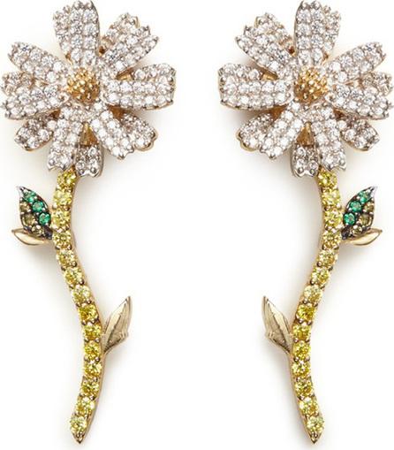 Anabela Chan 'Daisy' detachable diamond 18k gold earrings