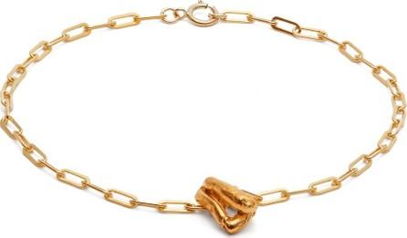 Alighieri Charm 24kt gold-plated anklet