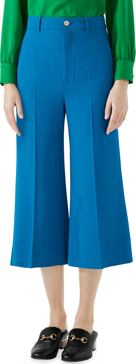 Gucci Wide-Leg Cady Stretch Crop Culotte Pants