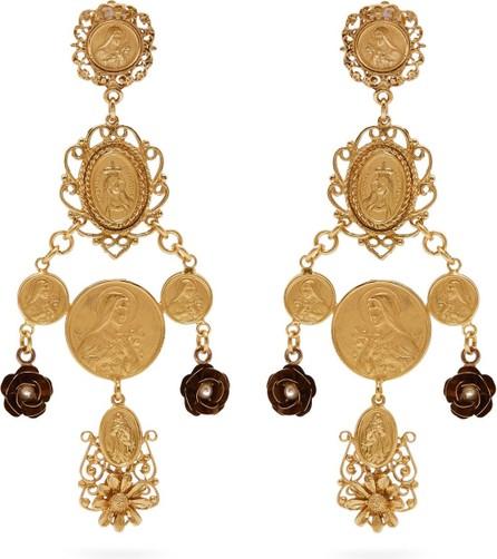 Dolce & Gabbana Charm drop clip earrings