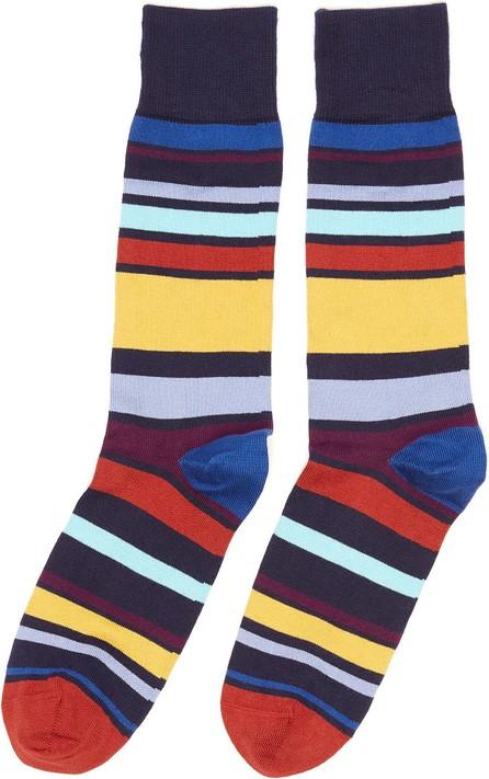 Paul Smith Colourblock stripe crew socks