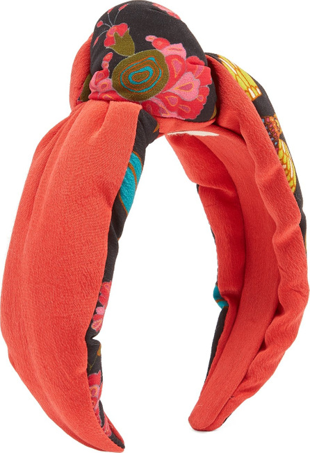 FIGUE Loulou contrast-print headband