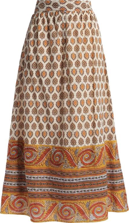 Antik Batik Soleil printed cotton midi skirt