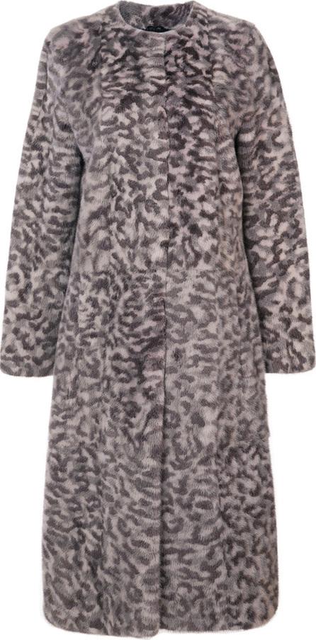 Oscar De La Renta Camouflage printed fur coat