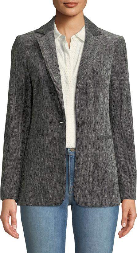 FRAME DENIM Herringbone One-Button Blazer