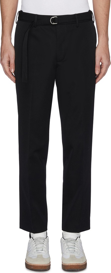 Helmut Lang Belted cropped wool twill pants