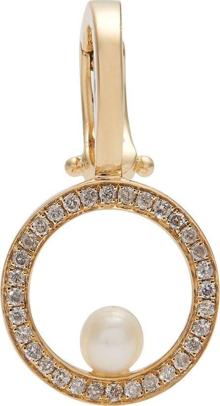 Anissa Kermiche Diamond, pearl & yellow-gold single ear cuff