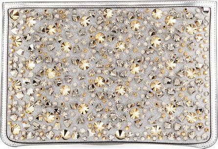 Christian Louboutin Loubiclutch Glitter Spikes Clutch Bag