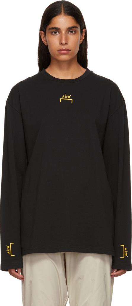 A-Cold-Wall* Black Bracket Tape Long Sleeve T-Shirt