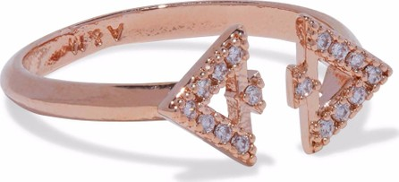 Astrid & Miyu Rose gold-tone crystal ring