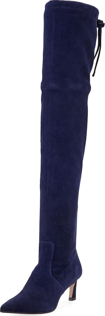 Stuart Weitzman Natalia 55mm Suede Over-The-Knee Boots