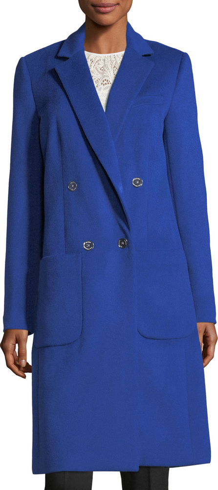 MICHAEL MICHAEL KORS Double-Breasted Menswear-Inspired Coat