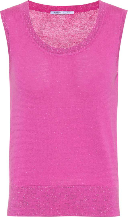 Agnona Cotton-blend sleeveless top