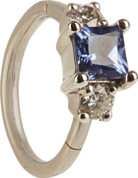 Maria Tash Diamond, sapphire & white-gold earring