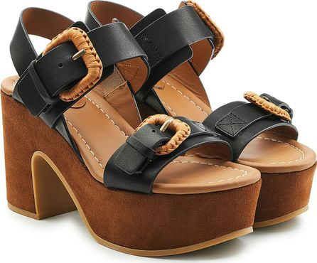 See By Chloé Platform Sandals in Leather and Suede