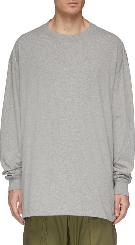 Ben Taverniti Unravel Project Stripe logo print back long sleeve T-shirt