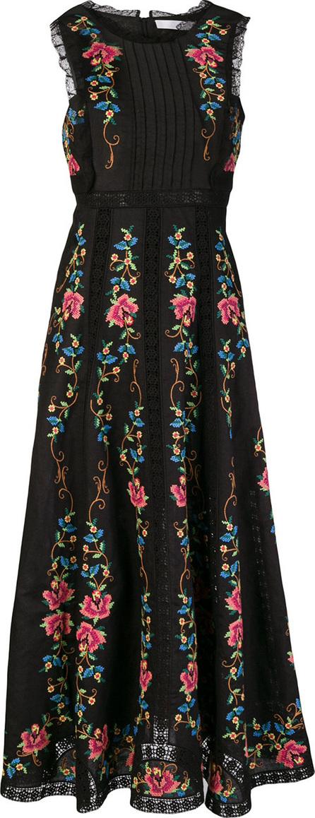 Zimmermann Floral-embroidered dress