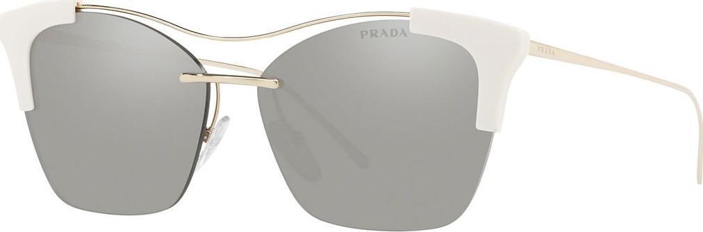 e522f4eef67 Prada Mirrored Semi-Rimless Butterfly Sunglasses.  370  259. Neiman Marcus
