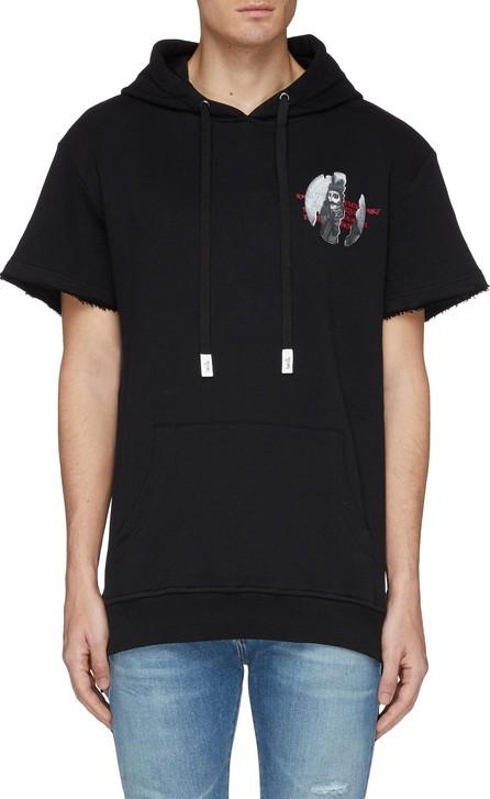 Haculla Slogan graphic print short sleeve hoodie