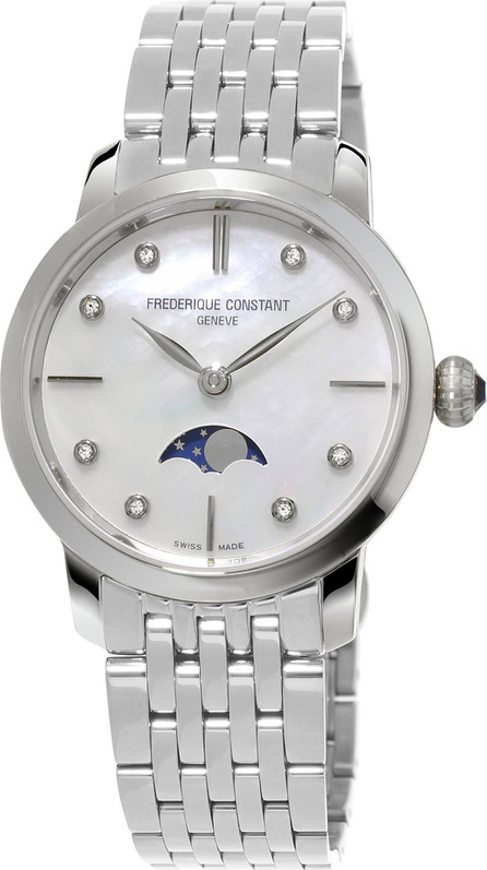 Frederique Constant Ladies' Slimline Moonphase Stainless Watch
