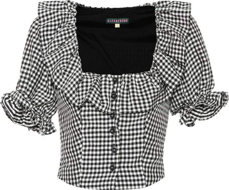 Alexachung Seersucker gingham blouse