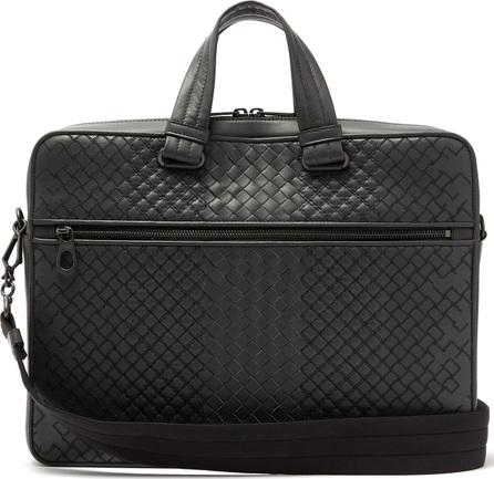 Bottega Veneta Aurelio Intrecciato leather briefcase