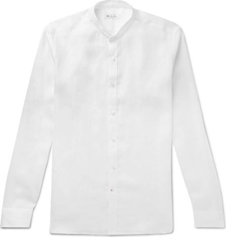 Loro Piana Grandad-Collar Linen Shirt