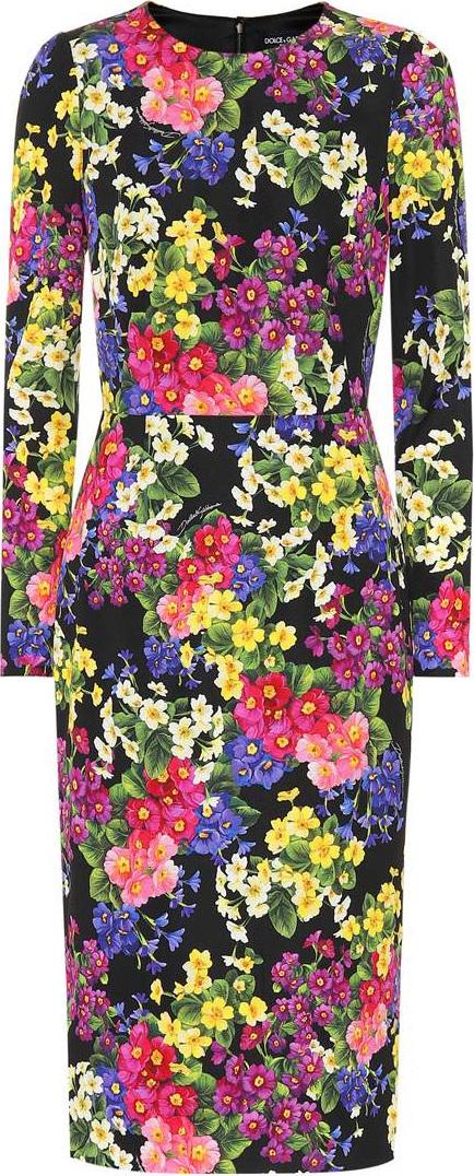 Dolce & Gabbana Floral stretch silk cady dress