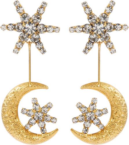 Jennifer Behr 'Atlas' Swarovski crystal moon link drop earrings