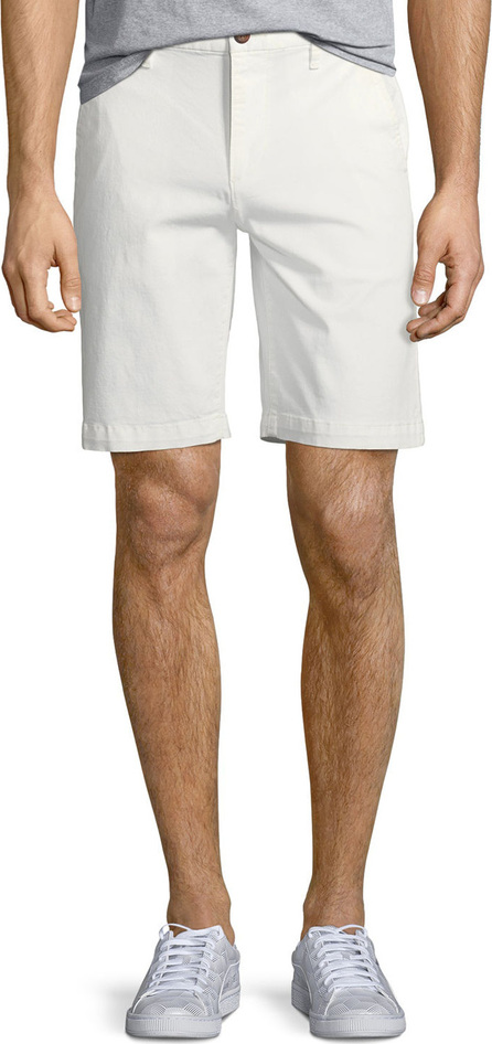 PAIGE Men's Thompson Cotton Twill Flat-Front Shorts