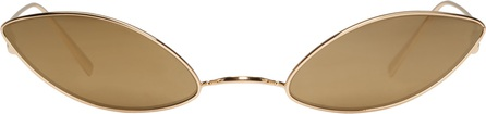 Acne Studios Gold Cat Eye Glasses