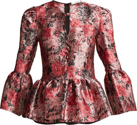 Erdem Demetria jacquard blouse