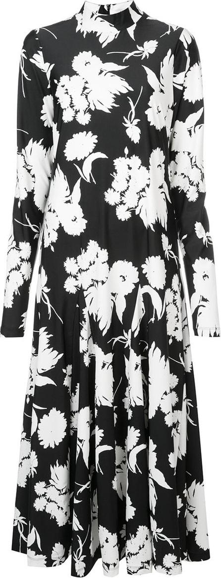 Ganni Turtleneck floral print dress