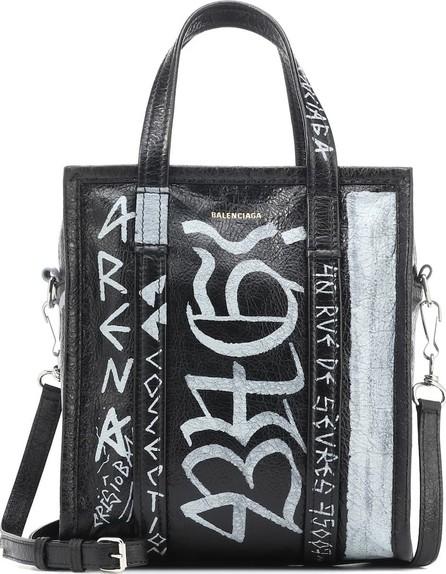 Balenciaga Bazar S Graffiti leather shopper