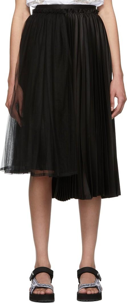 Noir Kei Ninomiya Black Layered Pleated Mix Skirt