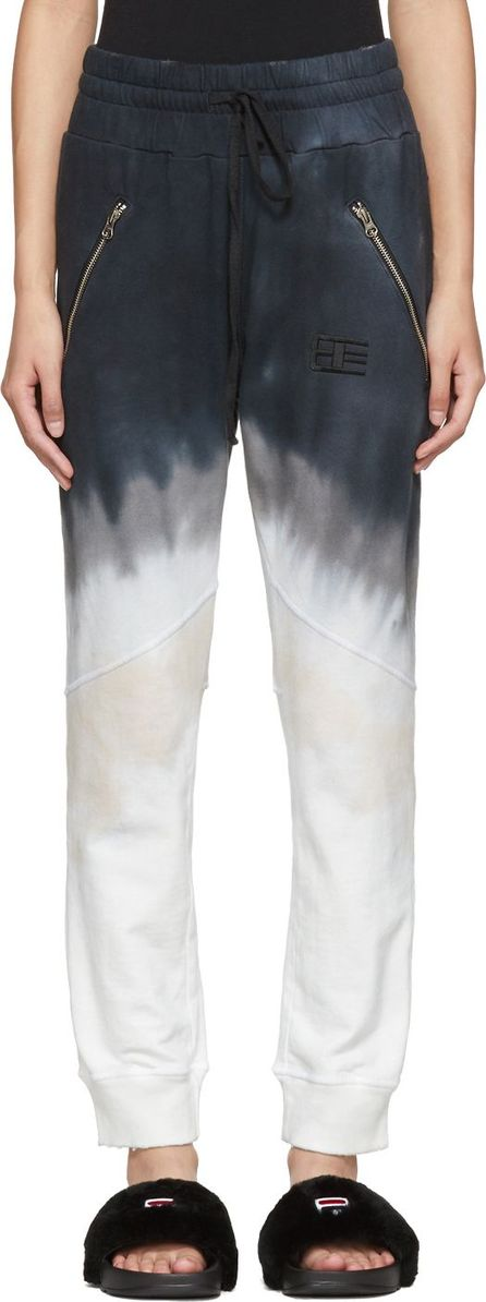 Baja East Grey Tie-Dye Lounge Pants