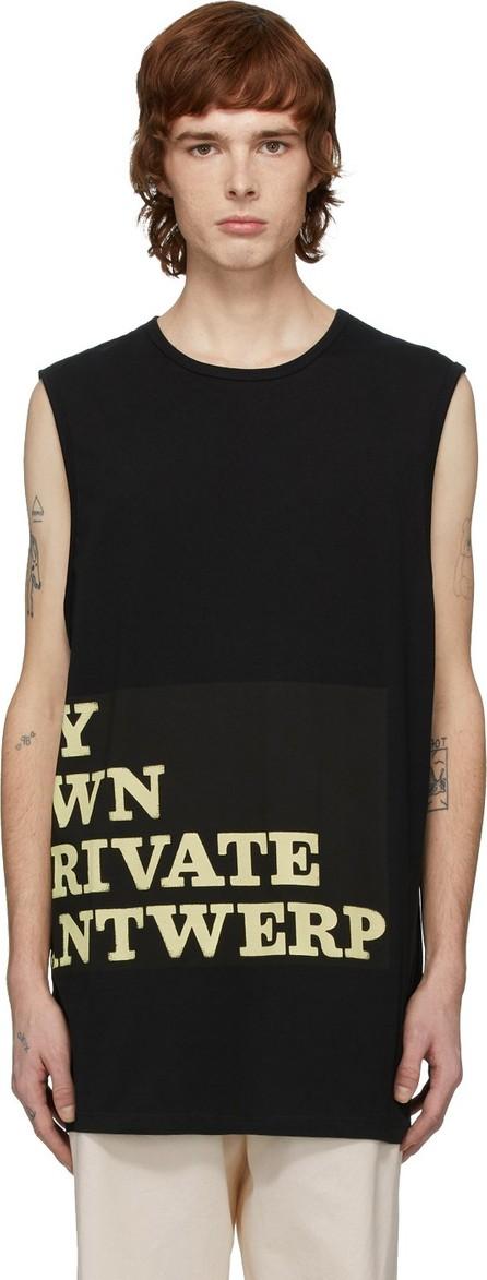 Raf Simons Black 'My Own Private Antwerp' T-Shirt