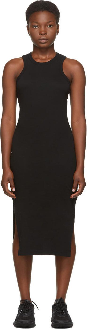 John Elliott Black Supima Midi Dress