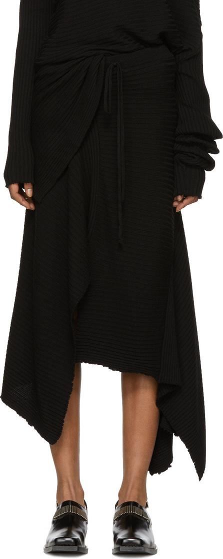 Marques'Almeida Black Draped Skirt